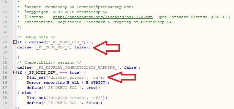 Modo Debug Prestashop para las versiones 1.6.1 en adelante hasta la última versión de la 1.6.1...